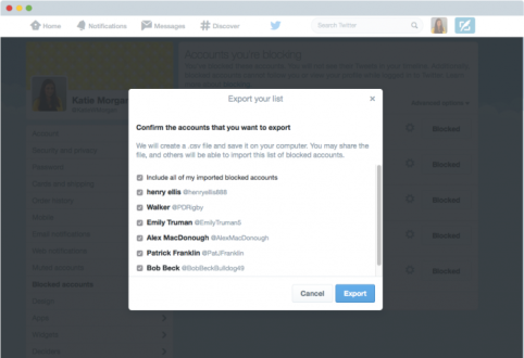 Twitter Block Lists