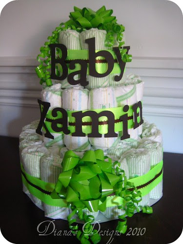 Personalized Diaper Cake