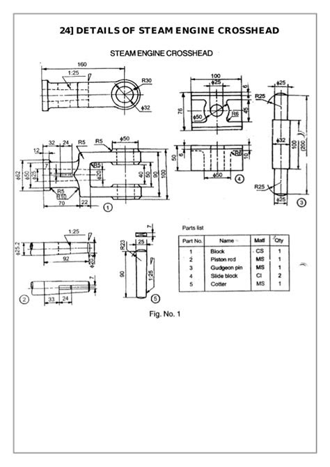 Pictures: 24 Worked Engineering Drawing Examples Ebook