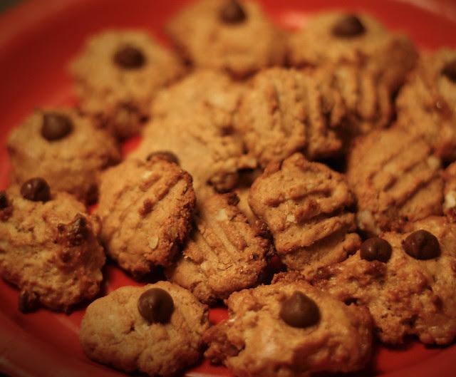 pb cookies close up