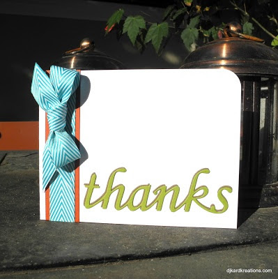 Yummy ribbon of thanks!
