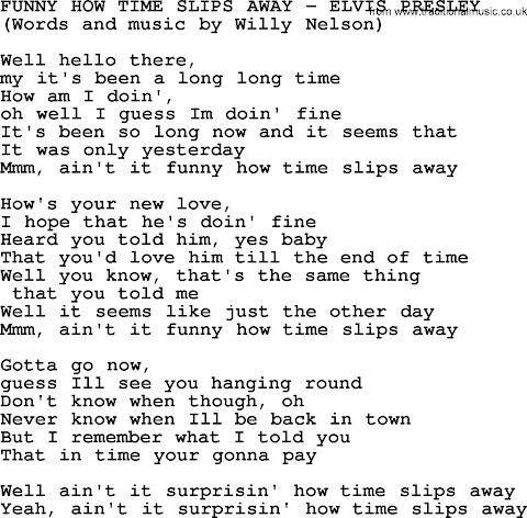 Funny How Time Slips Away Lyrics