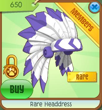 Image result for animal jam rare headdress