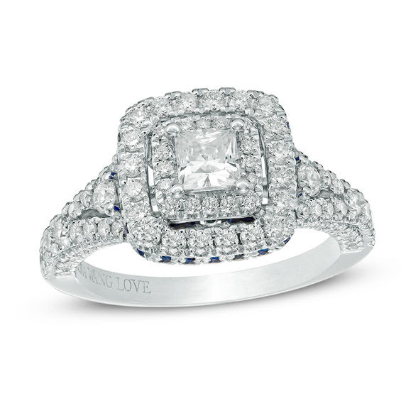 Vera Wang Love Collection 1 13 Ct Tw Princess Cut Diamond And