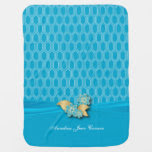 Baby Blue Geometric Designs Swaddle Blankets
