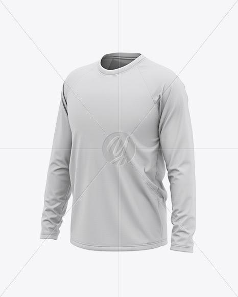 Download Download Men's Raglan Long Sleeve T-Shirt Mockup - Front ...