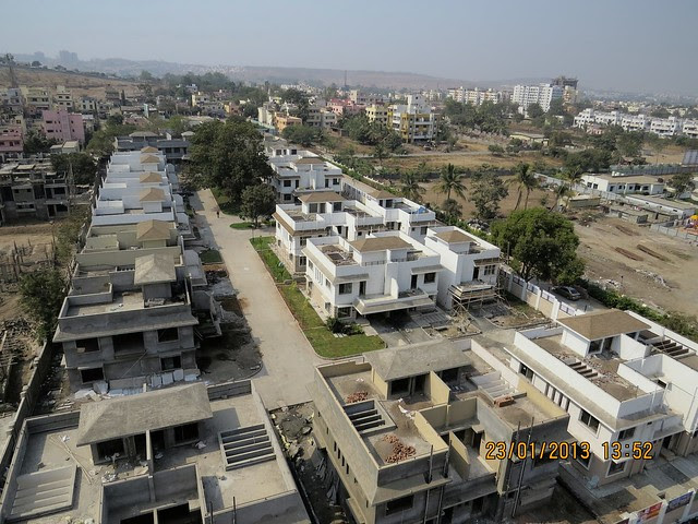 View from 1st Phase of Residential Towers - Gated Community of 3 BHK Bungalows at Green City Handewadi Road Hadapsar Pune 411028