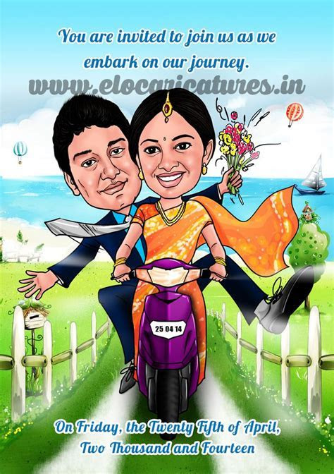 Indian wedding Caricature!   Wedding caricatures