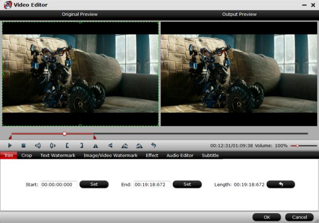 Edit Mavic Pro Platinum 4K video