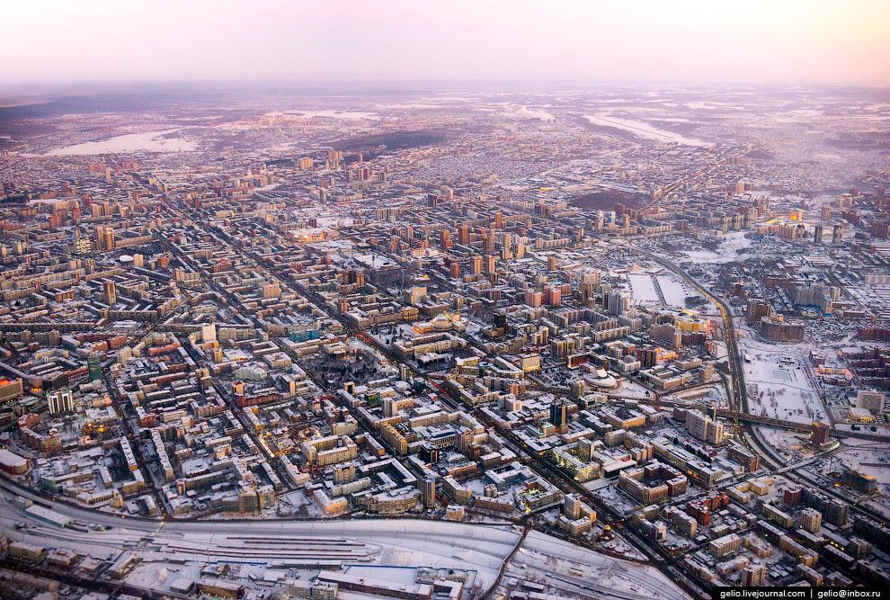 Зимний Новосибирск.