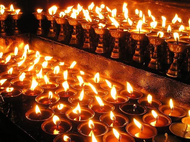 nepal, stearinlys, bønn lys, hellig, bønn, buddhismen