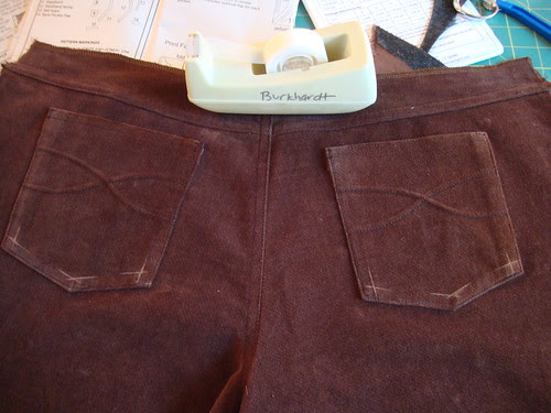 J Stern Designs brown cords in progress