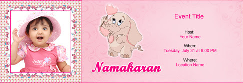 Free Baby Naming Namakaran Invitation With Indias 1 Online Tool