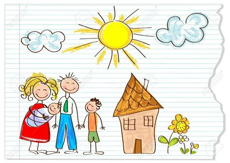 house clipart child drawing clipground