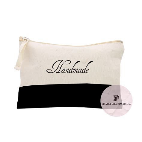 Embroidered Personalized Cotton Cosmetic Bags & Cotton