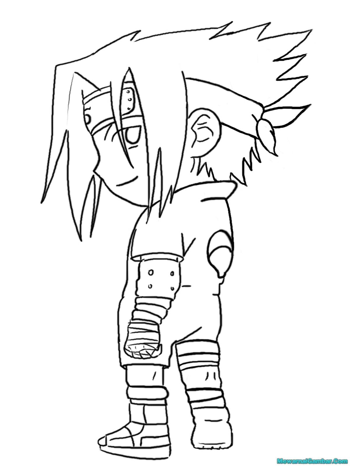 Gambar Mewarnai Tokoh Uzumaki Naruto Hitam Putih Auto Electrical