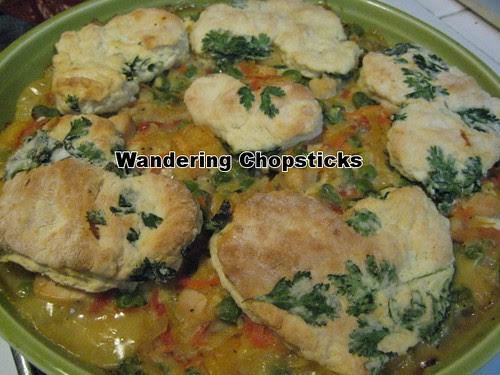 Chicken Pot Pie with Cilantro Biscuits 1