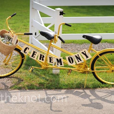 Bike Welcome Sign