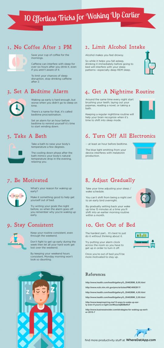 10 Effortless Tricks to Waking up Earlier