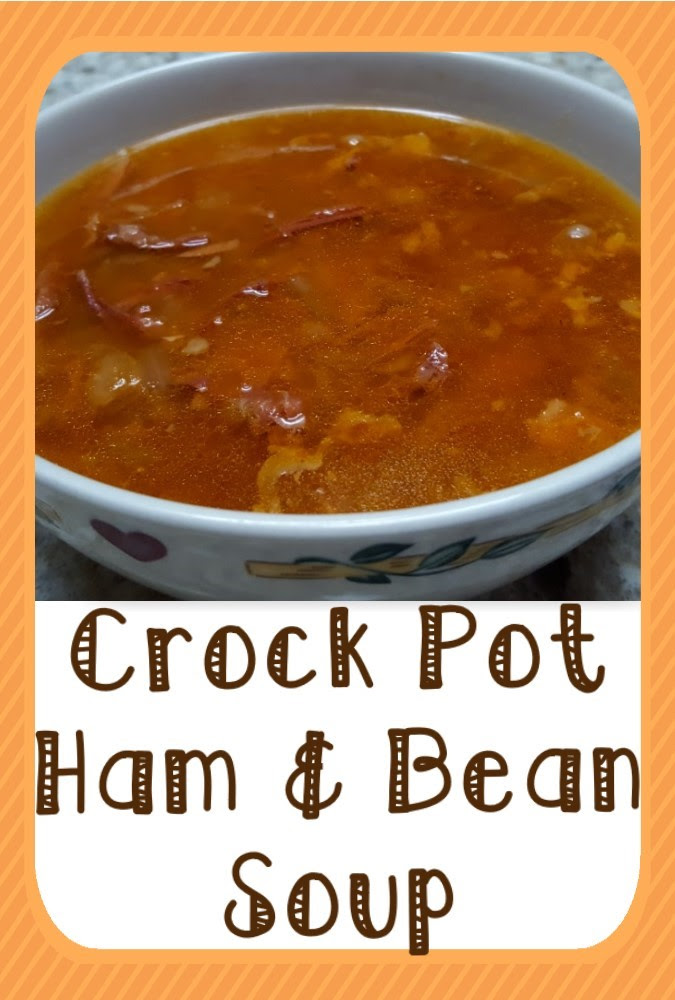 Crock Pot Leftover Ham & Bean Soup