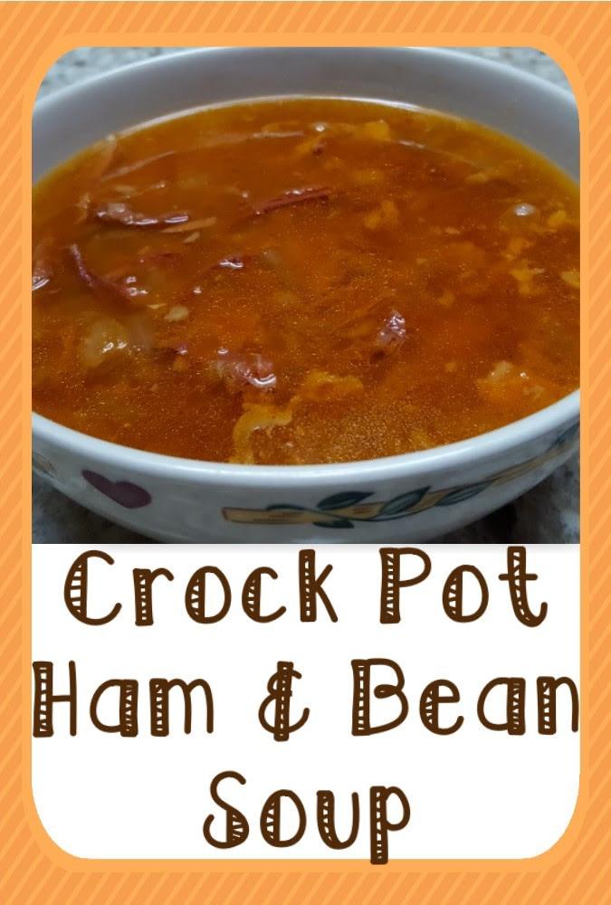 Crock Pot Leftover Ham & Bean Soup