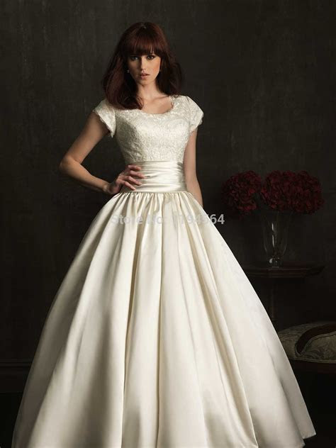Modest High Back Wedding Dresses 2015 Bridal Ball Gowns