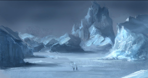 sketch, ice, snow, speedpainting, environmental, painting, photoshop, art, concept, drawing, how to, tutorial