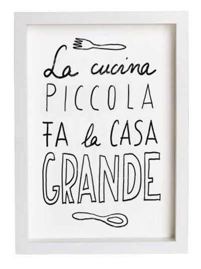 witanddelight:  hand drawn typography (via LA CUCINA Reproduction From Original Illustration by anek on Etsy)