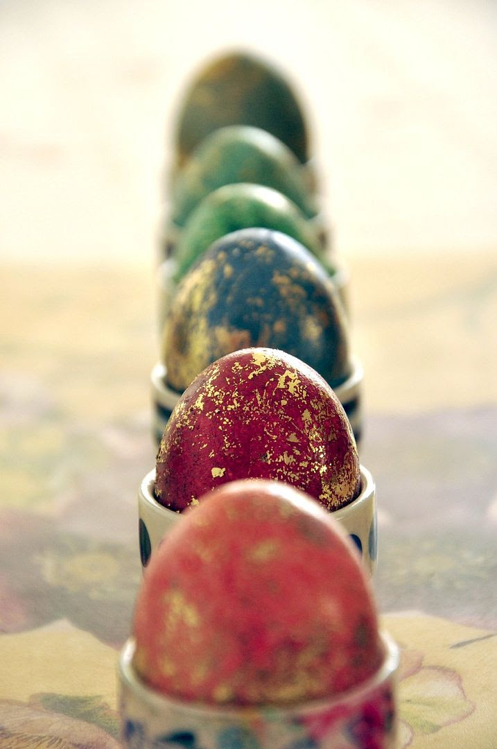 03.04.12, The painted Easter eggs waiting to dry.