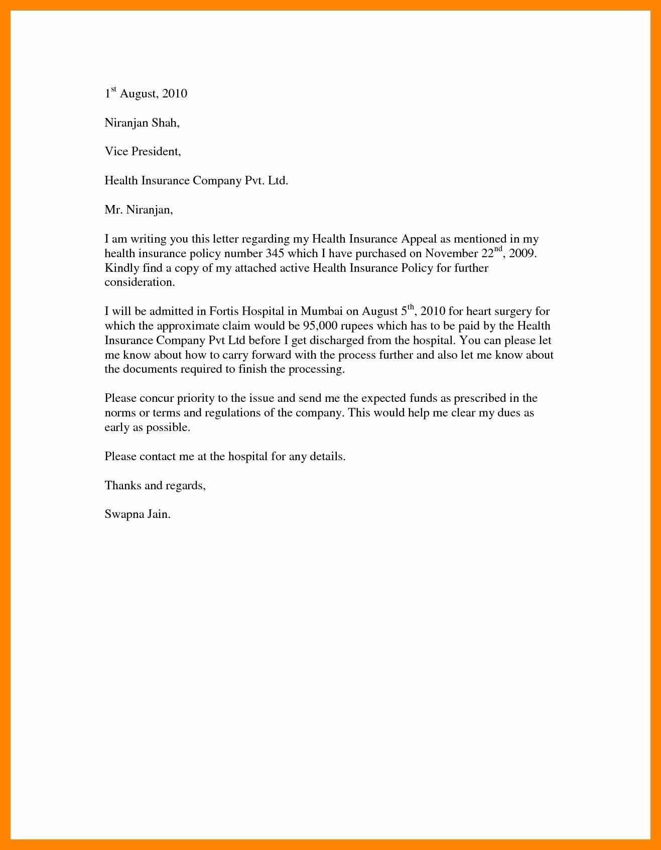 Insurance Appeal Letter | | Mt Home Arts