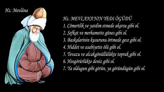 Mevlânanin Yedi öğüdü
