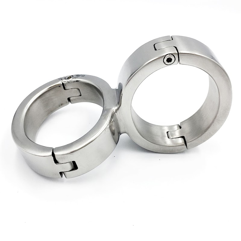 Get  Stainless steel metal handcuffs for sex adult games bdsm bondage restraints sex toys for couples ha