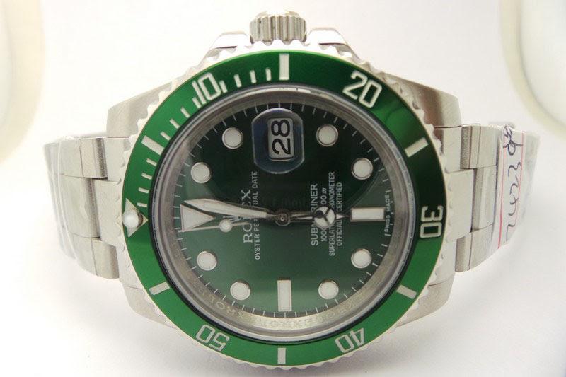 Rolex Green Submariner 116600LV Watch Dial