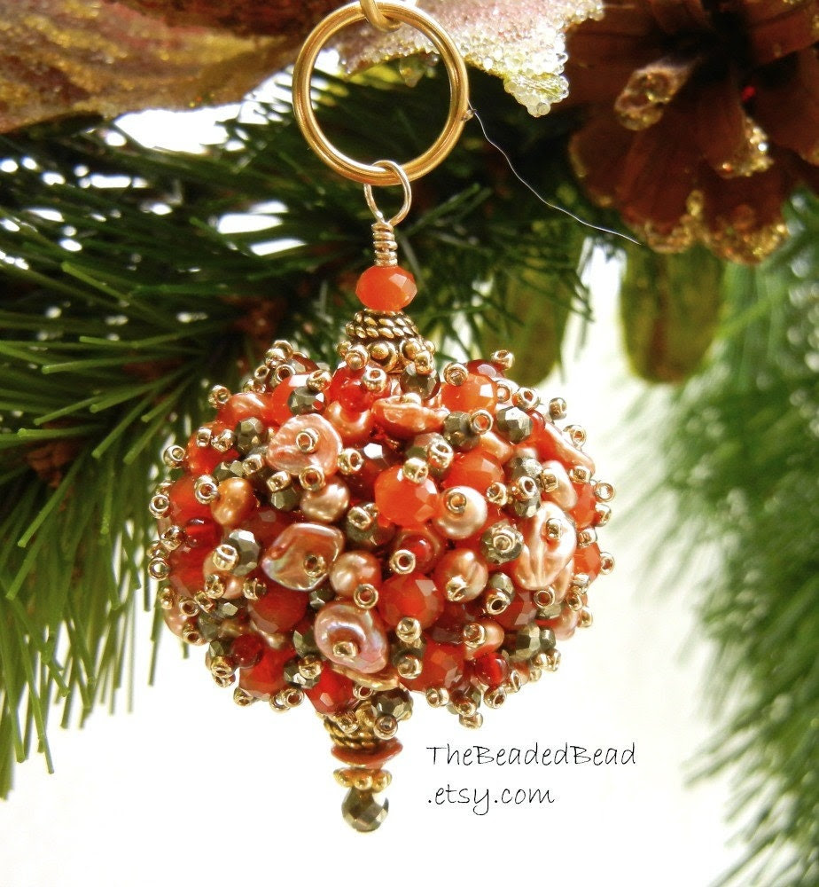 Miniature Beaded Ornament by Sharri Moroshok - TheBeadedBead
