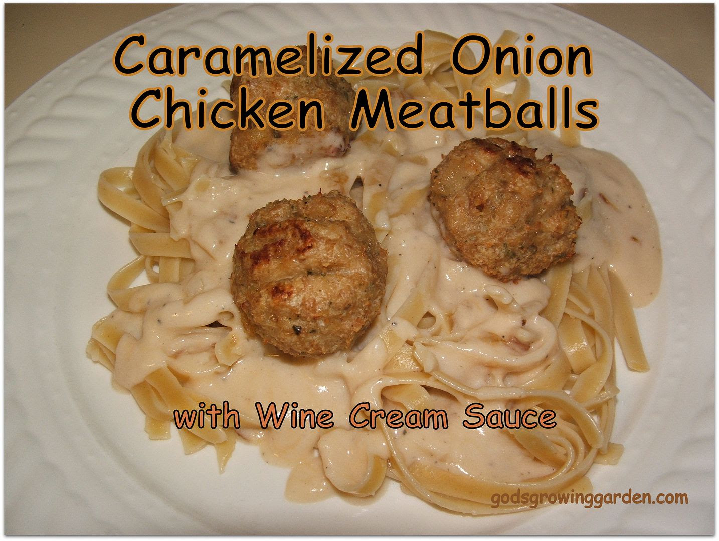 Carameized Onion Chicken Meatballs photo 013_zpsfd4698a6.jpg