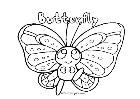 printable preschool butterfly coloring pages  printable coloring pages for kids