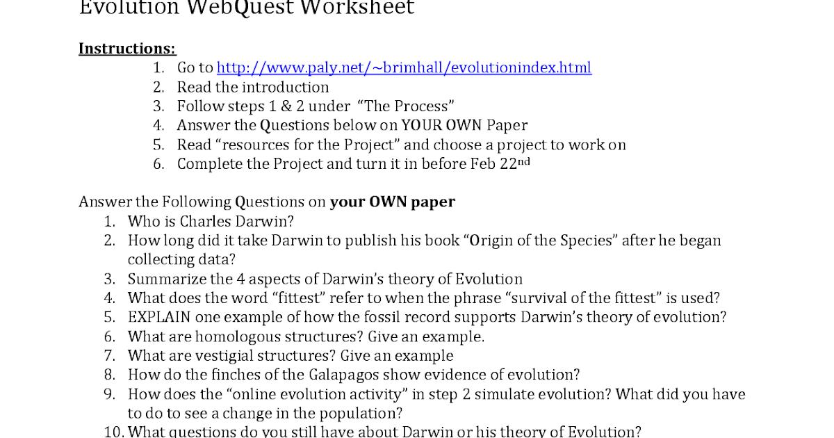 33 Evidence Of Evolution Worksheet Answer Key - Worksheet ...