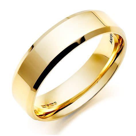 Men's 18ct Gold Bevelled Edge Wedding Ring   0005031