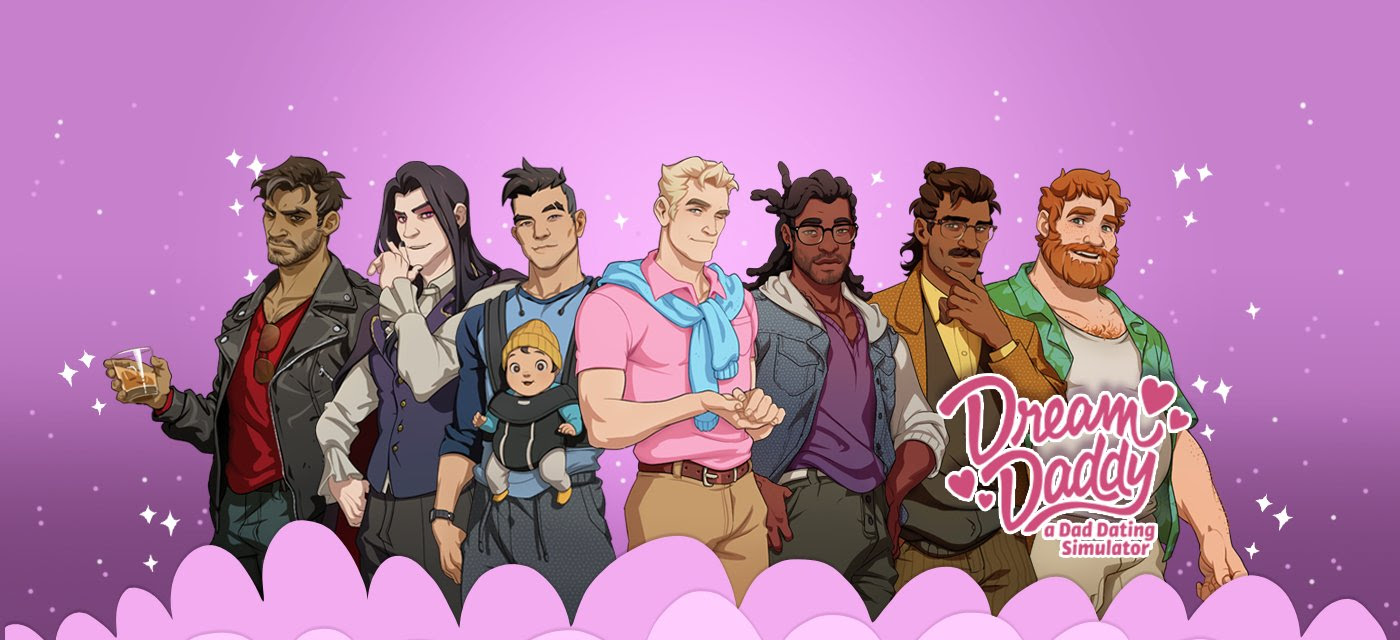 Dream Daddy is a hot dad-on-dad dating sim from Game Grumps screenshot