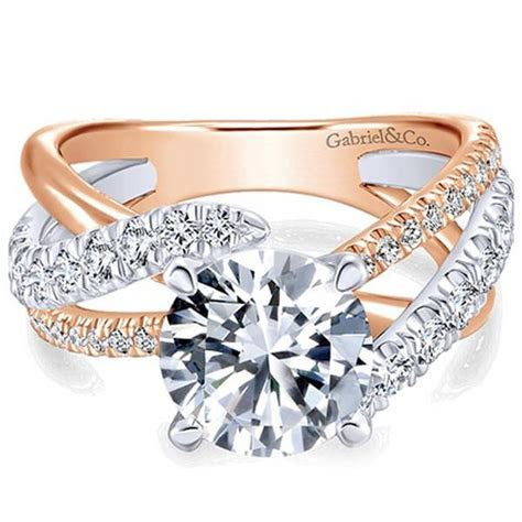 "Gabriel ""Zaira"" White & Rose Gold Bypass Twist Diamond"