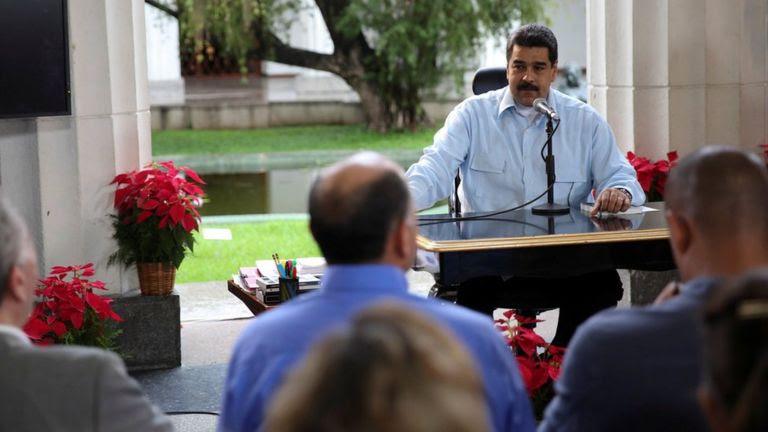 """Nicolás Maduro en el programa """"En contacto con Maduro""""."""