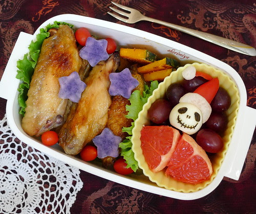 Jack Skellington Chicken Bento by sherimiya ♥