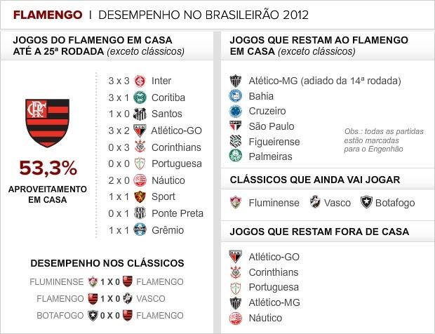 Desempenho do Flamengo no Brasileirão (Foto: Editoria de Arte / Globoesporte.com)