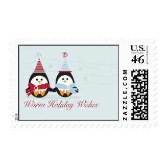 Christmas Penguins Postage