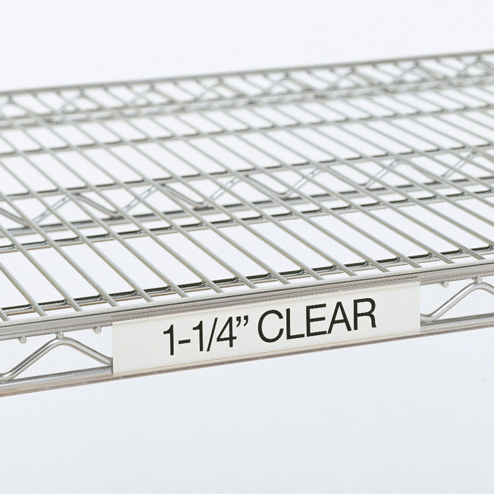 Metro 9990cl 3x125 Clear Label Holder Fits All Wire Shelves