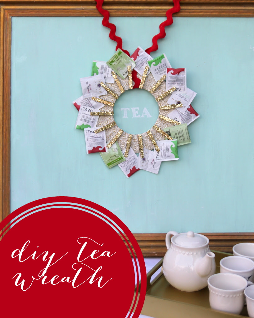 diy tea wreath handmade gift idea