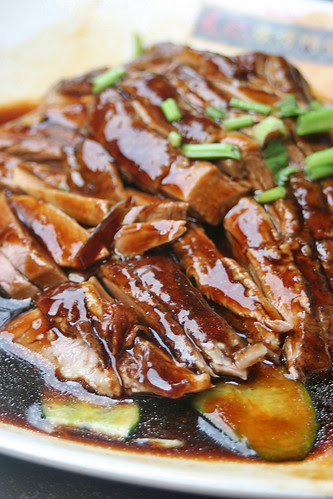 Tender braised duck
