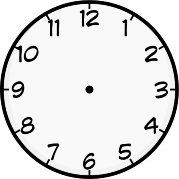 Analog Clock Without Hands Clipartsco