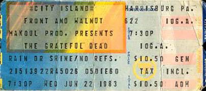 Image result for grateful dead city island 1983