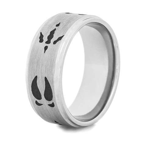 Deer and Turkey Tracks Ring by Titanium Buzz
